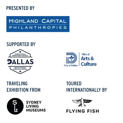 Sponsors: Highland Capital, Visit Dallas, City of Dallas Office of Arts and Culture, Sydney Living Museums, Flying Fish