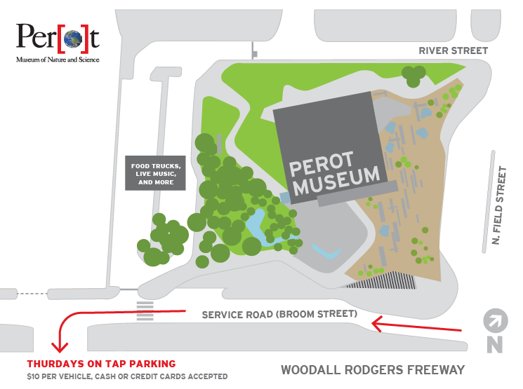 Parking Map for Thursdays on Tap
