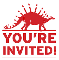Dino Candles Invitation